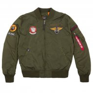Alpha Industries Bomberjacke MA-1 TT Patch SF dark green