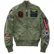 Alpha Industries Bomberjacke MA-1 TT Patch sage-green...