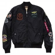 Alpha Industries Bomberjacke MA-1 TT Patch schwarz