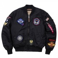Alpha Industries Bomberjacke MA-1 VF DIY black