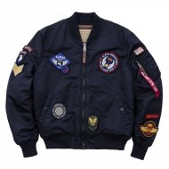 Alpha Industries Bomberjacke MA-1 VF DIY rep.blue