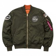 Alpha Industries Bomberjacke MA-1 VF NASA RP dark green