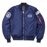 Alpha Industries Bomberjacke MA-1 VF NASA RP ocean blue