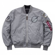 Alpha Industries Bomberjacke MA-1 VF NASA RP silver