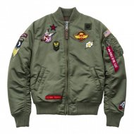 Alpha Industries Bomberjacke MA-1 VF PATCH WMN sage-green