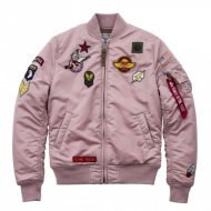 Alpha Industries Bomberjacke MA-1 VF PATCH WMN silver pink