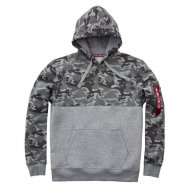 Alpha Industries Camo Block Hoody grey camo