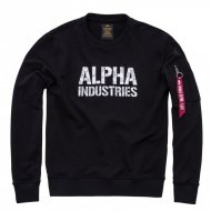 Alpha Industries - Camo Print Sweater black/white