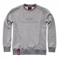 Alpha Industries Crewneck Sweater 3D grey heather