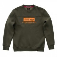Alpha Industries Crewneck Sweater Inlay dark green