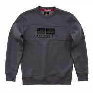 Alpha Industries Crewneck Sweater Inlay greyblack