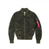 Alpha Industries Damen Bomberjacke MA-1 LW PM Iridium Wmn...