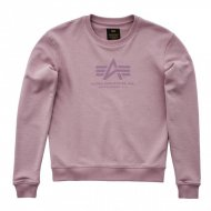 Alpha Industries Frauen Crewneck Sweater Logo silver pink