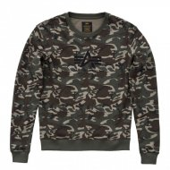 Alpha Industries Frauen Crewneck Sweater Logo woodland camo