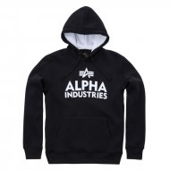 Alpha Industries Hoodie Foam Print Black White