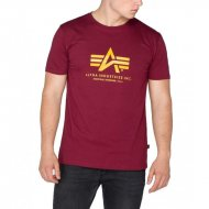 Alpha Industries T-Shirt Basic Logo burgundy
