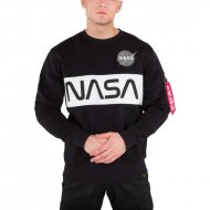 Alpha Industries Sweater NASA Inlay black
