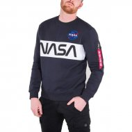 Alpha Industries Sweater NASA Inlay rep. blue