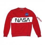 Alpha Industries Sweater NASA Inlay speed red