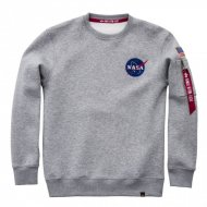 Alpha Industries Sweater Space Shuttle grey heather