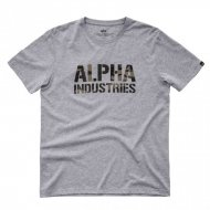 Alpha Industries T-Shirt Camo Print T grey...