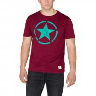 Alpha Industries T-Shirt Star burgundy