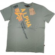 Alpha Industries T-Shirt Training Support oliv