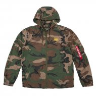 Alpha Industries Windbreaker Backprint woodland camo