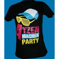 Atzen machen Party Design 2 Girly Shirt (Bunt)