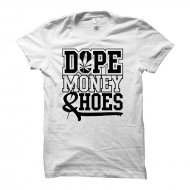 Cocaine Casino - Dope Money Hoes U-Neck Shirt weiß...