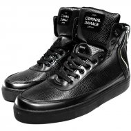 Criminal Damage - Python Mid Top Schuh black (SALE)