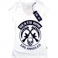 Deathrow Girly Shirt Death weiss/schwarz