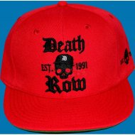 Deathrow Snap Back Cap Skull rot