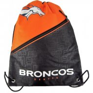 Forever Collectibles NFL Diagonal Zip Drawstring Bag D....