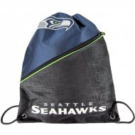 Forever Collectibles NFL Diagonal Zip Drawstring Bag S....