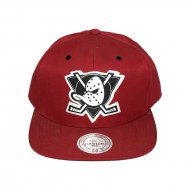 Mitchell & Ness Snapback Anaheim Ducks burgundy