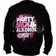 Party, Sex & Alkohol Sweater schwarz