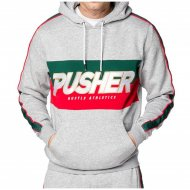 Pusher Apparel Hoodie Hustle grey