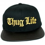 Thug Life Snapback Premium Gold Leather