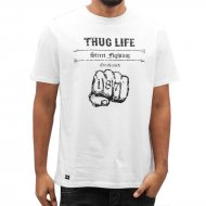 Thug Life  T-Shirt Streetfight in weiß