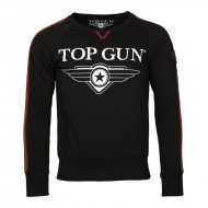 Top Gun Sweater Streak schwarz