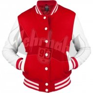 Ubran Classics - Ladies Oldschool College Jacket red/wht