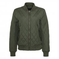 Urban Classics - Ladies Diamond Quilt Nylon Jacket olive