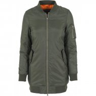 Urban Classics - Ladies Long Bomber Jacket olive
