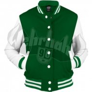 Urban Classics - Ladies Oldschool College Jacket cgr/wht