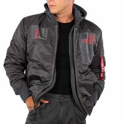 Alpha Industries Bomberjacke MA-1 D-Tec Blood Chit greyblack XL