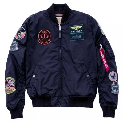 Alpha Industries Bomberjacke MA-1 TT Patch rep. blue