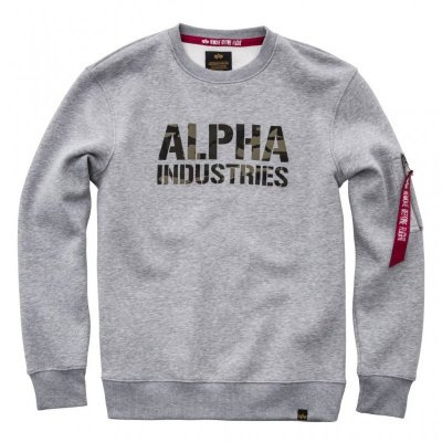 Alpha Industries - Camo Print Sweater grau
