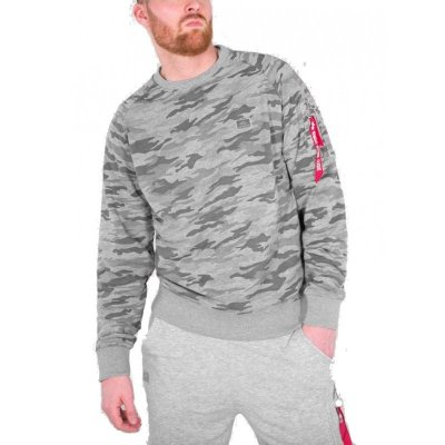 Alpha Industries X-Fit Sweater grey camo