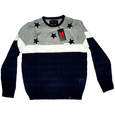 Maskulin Knit Crewneck Stars Navy (SALE)